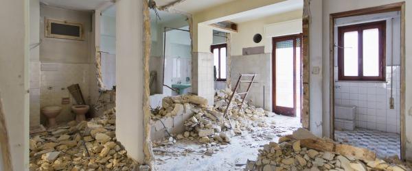 destruction vielle maison