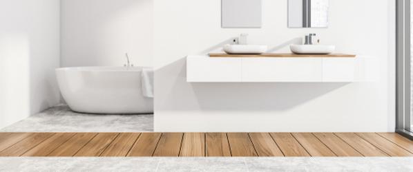 salle de bain carrelage parquet