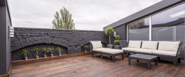 terrasse bois brule